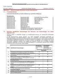 Sicherheitsdatenblatt Bodenbinder - SCHWENK Zement KG