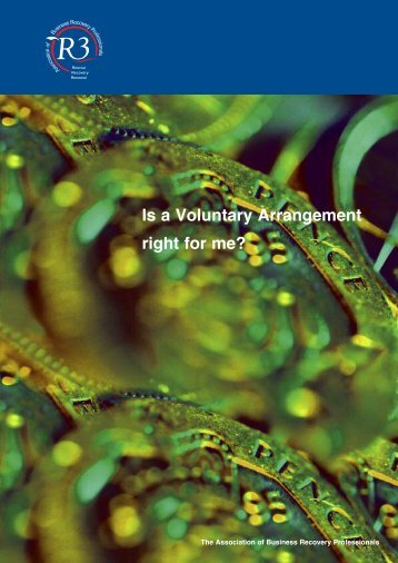Is a Voluntary Arrangement right for me? - R3