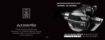 ATOMIC M1 NITROX - Atomic Aquatics