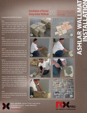 Ashlar Wallmat Installation Guide - Real Stone Source