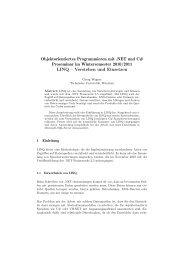 LINQ – Verstehen und Einsetzen - Software and Systems ...