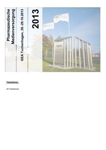 Pharmazeutische Medienversorgung - GEA Tuchenhagen
