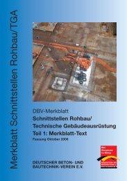 Schnittstellen Rohbau - Deutscher Beton- und Bautechnik-Verein eV