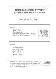 metodika bilančního výpočtu energetické náročnosti ... - MPO Efekt