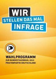 Wahlprogramm in Beschlussfassung - Piratenpartei Deutschland