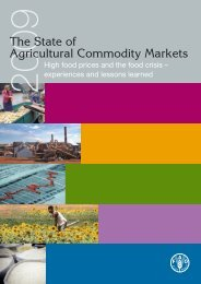 The State of Agricultural Commodity Markets 2009 - FAO.org