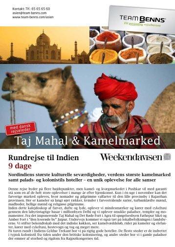 Magiske Thailand Taj Mahal & Kamelmarked - Team Benns