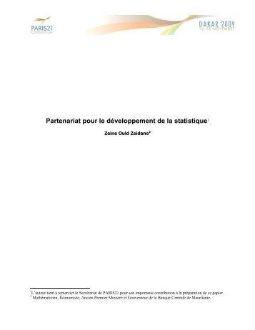 Partenariat pour le développement de la statistique1 - Paris21