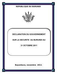 universite des grands lacs - Présidence de la République du Burundi
