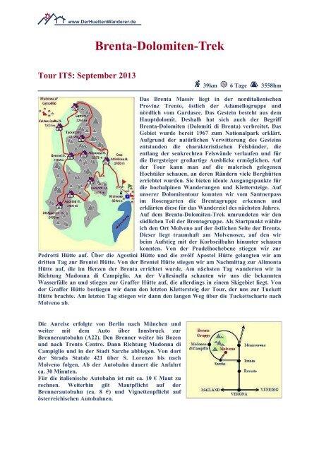 Brenta-Dolomiten-Trek - DerHuettenWanderer.de