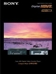 Sony JH3 Manual - Air Sea Land Productions, Inc