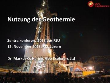 Nutzung der Geothermie - FSU