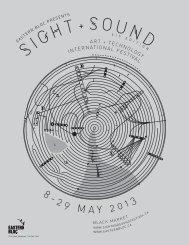 Press Kit. - Sight & Sound