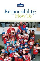 2006 Annual Report - Social Responsibility - Lowe's