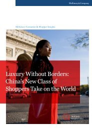Luxury Without Borders: China's New Class of ... - McKinsey China