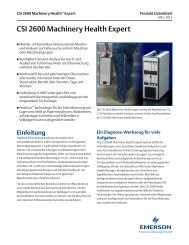 CSI 2600 Machinery Health Expert - Emerson Process Management