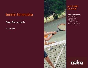 tennis timetable timetable timetable - Roko Health Clubs