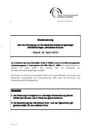 Stand: 30. April 2010 - und Abwasserberatung NRW