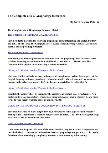 Download graphology ebook