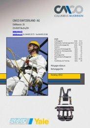 Persönliche Schutzausrüstung - Columbus McKinnon Switzerland AG