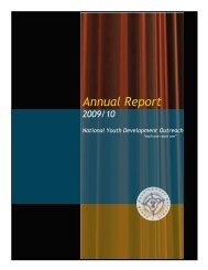 Annual Report - National Youth Development Outreach
