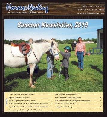 2010 Summer Newsletter - Horses for Healing