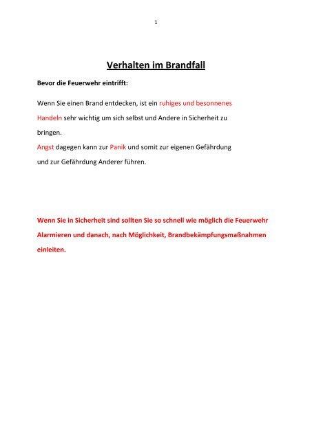 Verhalten im Brandfall - Landeshauptstadt Wiesbaden