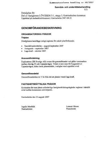 48/2007 Förslag till detaljplan för del av fastigheten Lövåsen 3:1 ...