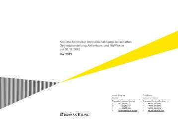 Kotierte Schweizer Immobilienaktiengesellschaften