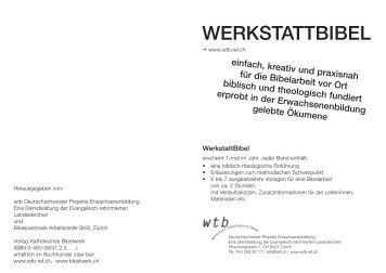 Prospekt WerkstattBibel Juni 2013.indd