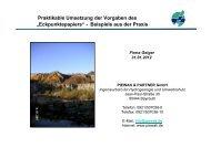Praktikable Umsetzung der Vorgaben des - H. Geiger GmbH Stein