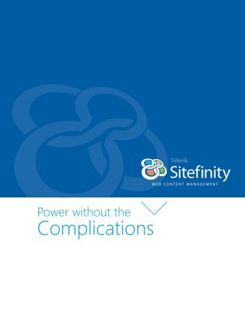 Overview Brochure - Sitefinity