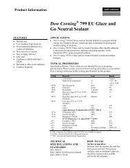 Dow Corning® 799 EU Glaze and Go Neutral Sealant - Geocel
