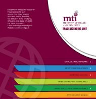 TLU BROCHUR cover - Ministry of Trade and Industry