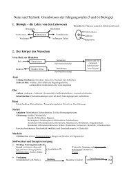 Grundwissen der 5. und 6. Jahrgangsstufe in Biologie