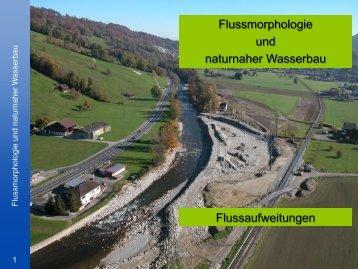 Dimensionierung einer Flussaufweitung - VAW