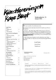 Nr 70 - januar 2004 - Kunstforeningen Køge Bugt