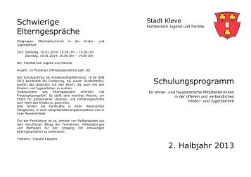 Schulungsprogramm Jugendpflege 2. Halbjahr 2013 (60 KB )