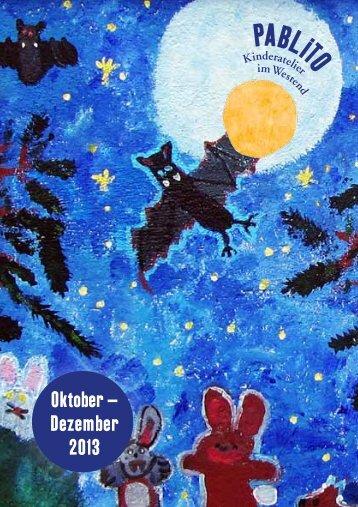 Fortlaufende Kurse - Pablito   Kunstatelier für Kinder