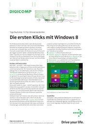 Die ersten Klicks mit Windows 8 (PDF) - Digicomp