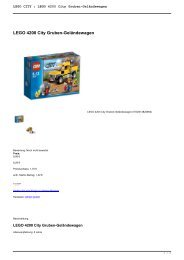 LEGO CITY : LEGO 4200 City Gruben-Geländewagen