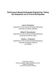 Performance-Based Earthquake Engineering - PEER - University of ...