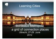 Learning Cities Bordeaux Metropole a grid of connection places