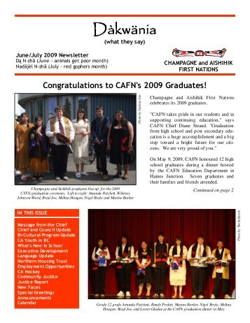 CAFN Newsletter June-July 2009 - Champagne and Aishihik First ...