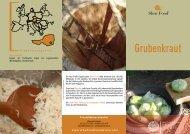 Mehr Informationen finden Sie auf dem Folder, den - Grubenkraut