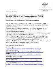 GANZ IP: Kameras mit Videoanalyse und Full-HD - CBC (Europe)