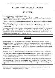 4.3 Max Weber - Klassen und Stände - Universität Rostock
