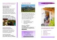 Jahresprogramm 2012 - die Regioseiten
