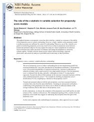 Weistreich 2011 C-statistic and propensity scores