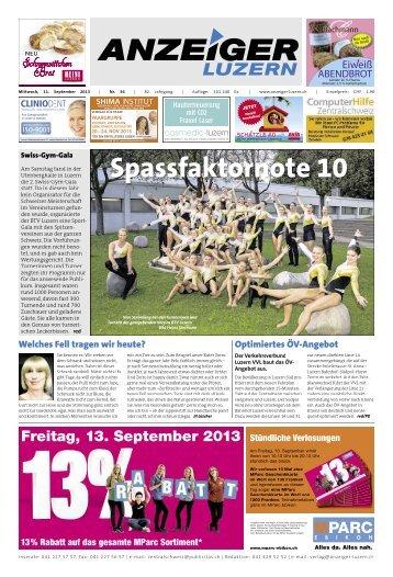 Anzeiger Luzern, Ausgabe 36, 11. September 2013